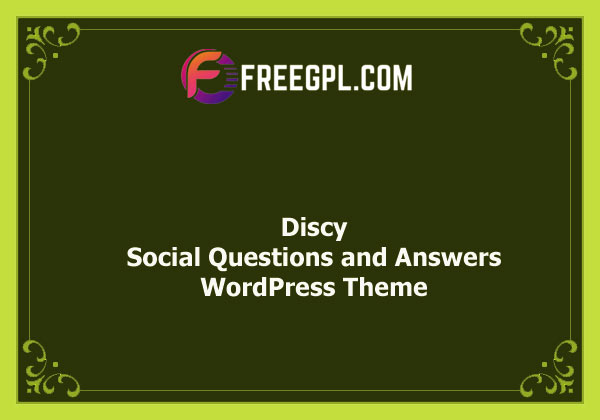 Discy - Social Questions and Answers WordPress Theme Nulled Download Free