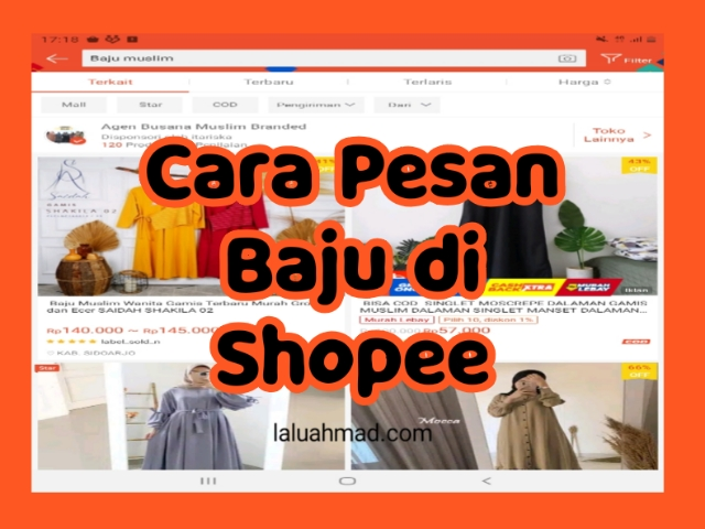 Cara Pesan Baju di Shopee Terbaru