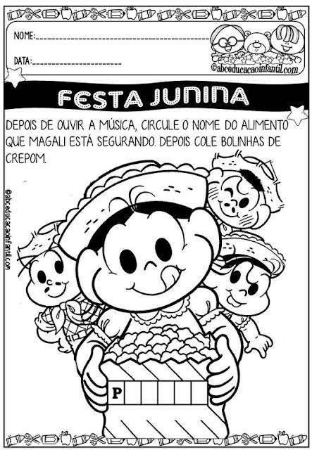 Atividades educativas festa junina