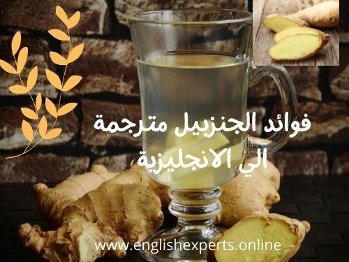 مصطلحات عن فوائد الجنزبيل ginger واكتشافات جديدة بالانجليزية