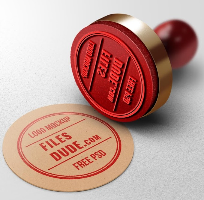 Rubber Stamp Logo Mockup By Graphics Fuel