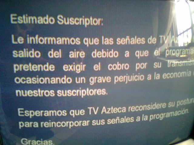 Megacable y TV Azteca: la madre que los parió