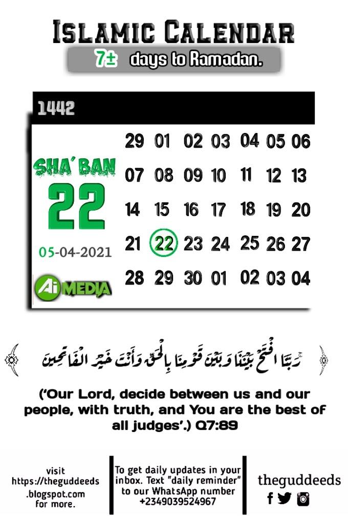 Today's Islamic Date | Worldwide | Saudi Arabia| UAE | Nigeria - Theguddeeds