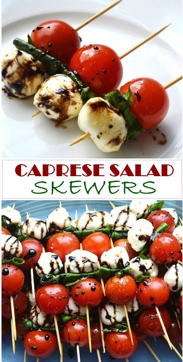 CAPRESE SALAD SKEWERS #Appetizerrecipes