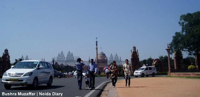 Outside View of Rashtrapati Bhavan, New Delhi