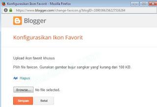 Upload favicon, Ganti favicon, ganti logo B, ganti icon B, ganti logo blog, ganti logo web