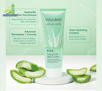 Wardah Nature Daily Aloe Hydramild Facial Wash