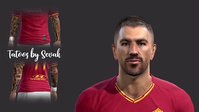 Aleksandar Kolarov (AS Roma) Face PES 2013