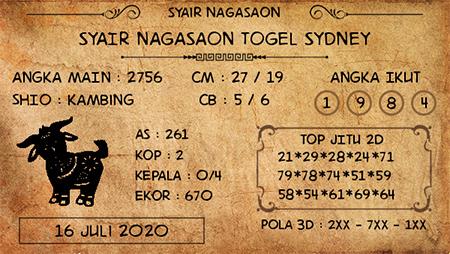 Nagasaon Sydney Kamis 16 Juli 2020