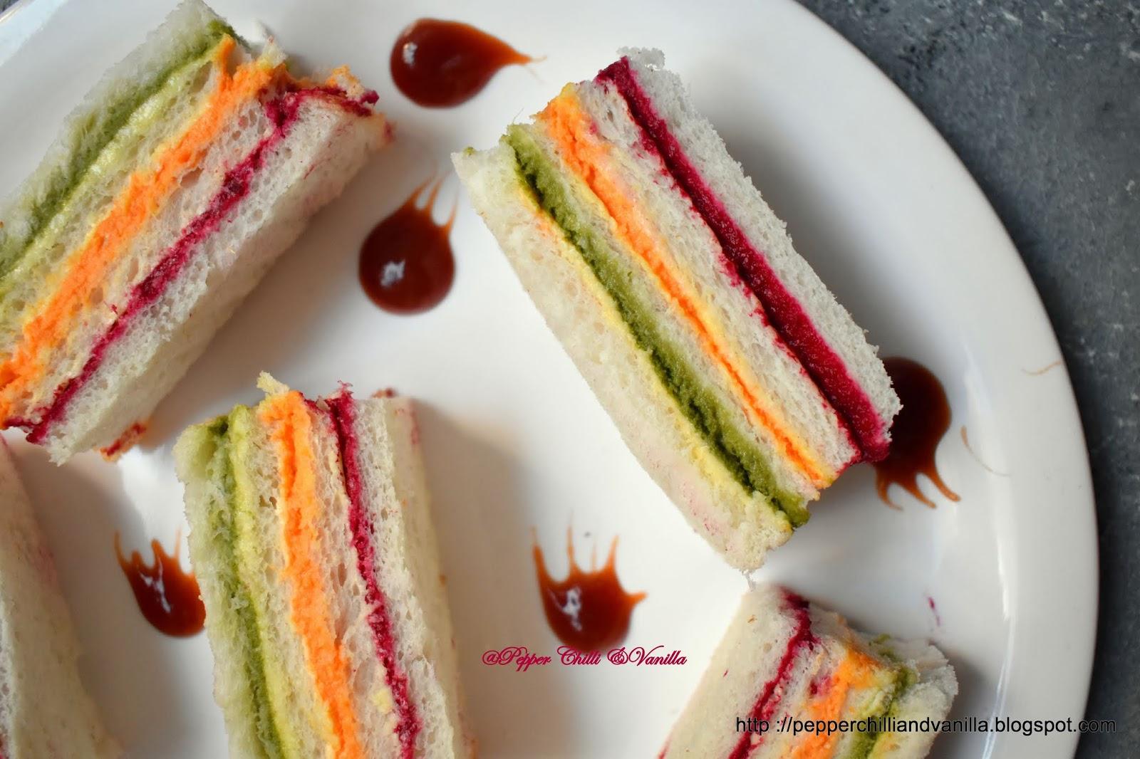 how to make rainbow sandiwch