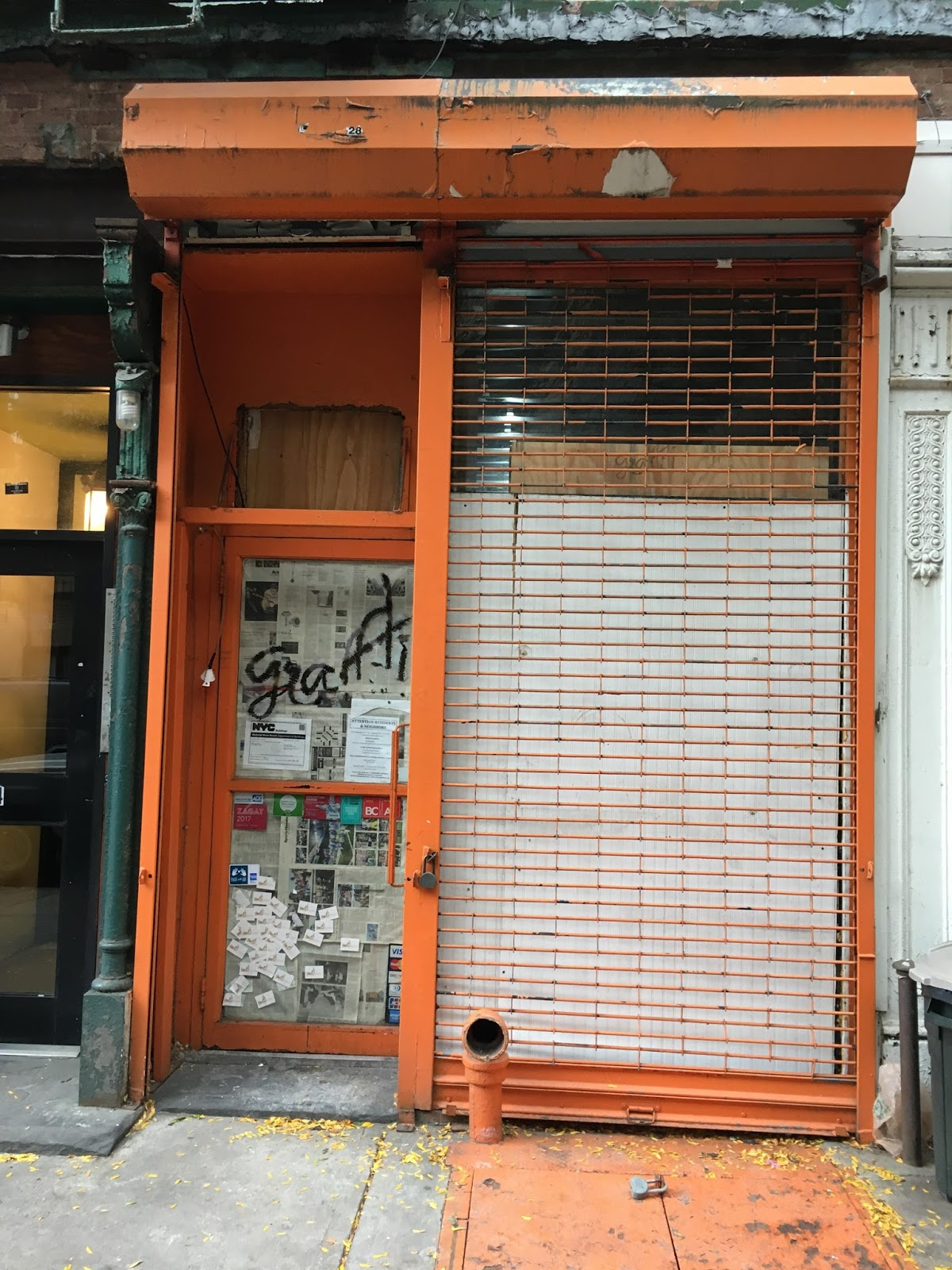 Ev Grieve Graffiti Space Giving Way To Greek Restaurant On 10th