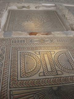 Detalle mosaicos geométricos