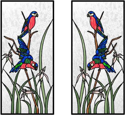 Lukisan Kaca Patri Tema Fauna