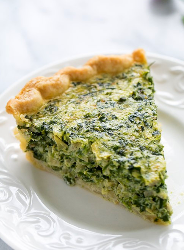 SPINCH AND ARTICHOKE QUICHE