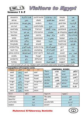مذكرة لغة انجليزية للصف الثالث الاعدادى ترم اول 2021 للاستاذ محمد الشعراوي