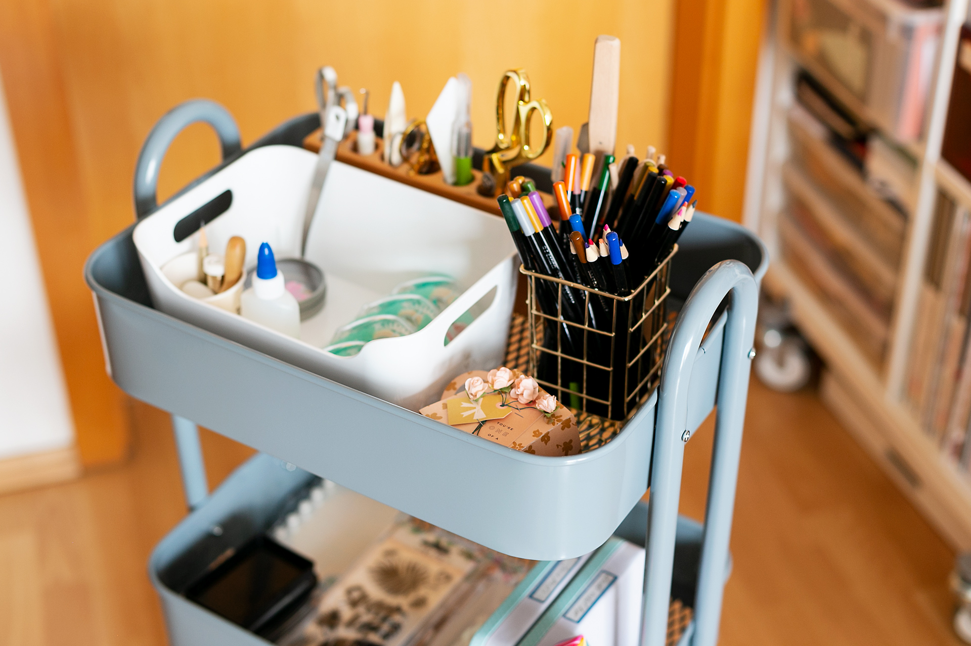 Styled storage cart from we r memory keepers