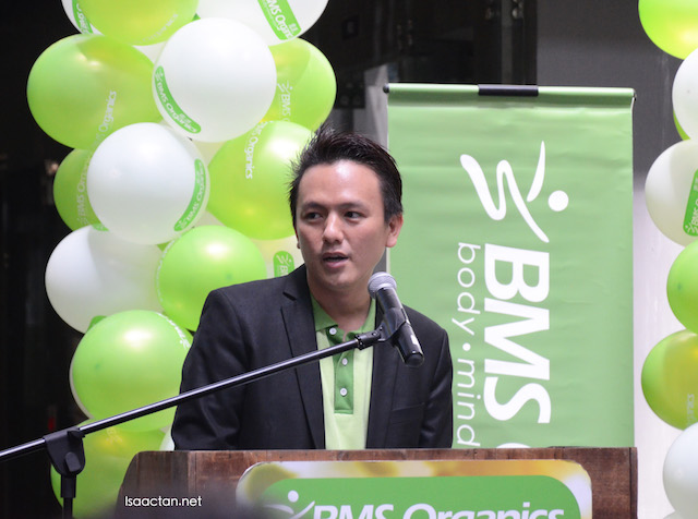 BMS Organics' CEO, Terry Lee at the launch