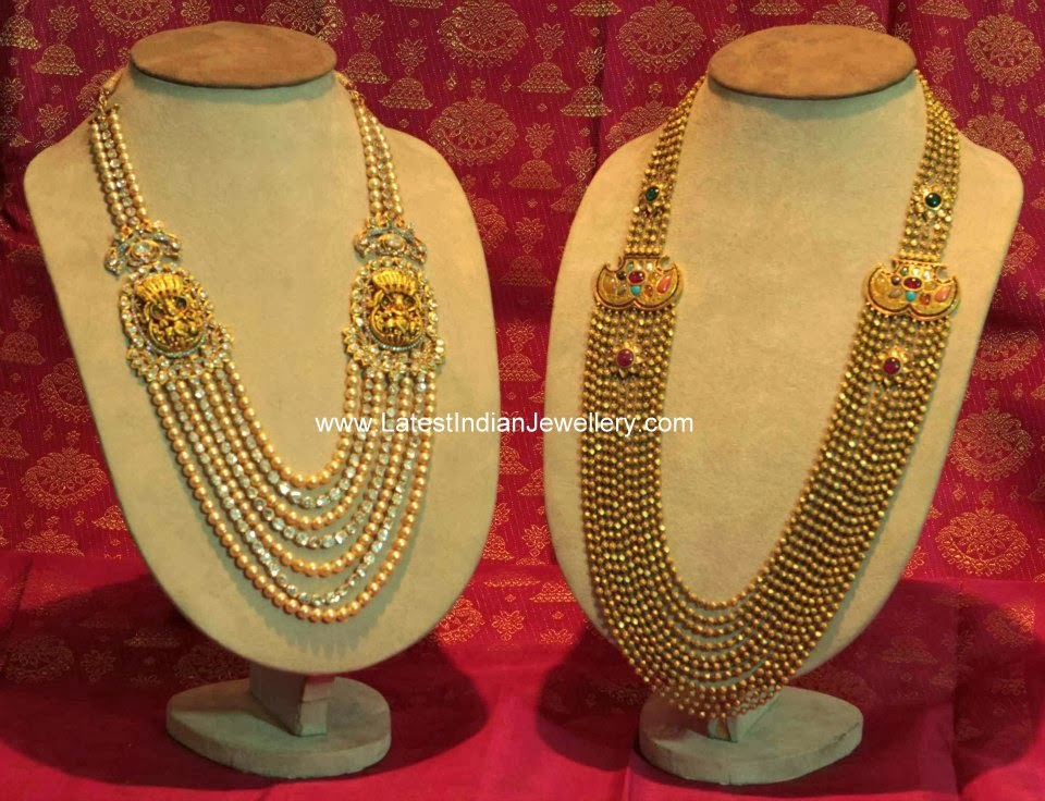 Antique Gold Beads Chandra Haram