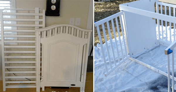 How to Create a Gorgeous Dog Crate From an Old Crib