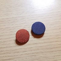 blue/orange - Gina Barrett / Gina-B Silkworks Button Autopsy