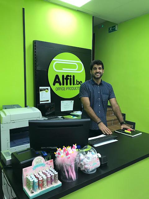 Inauguración papelería Alfil Be Madrid Rio