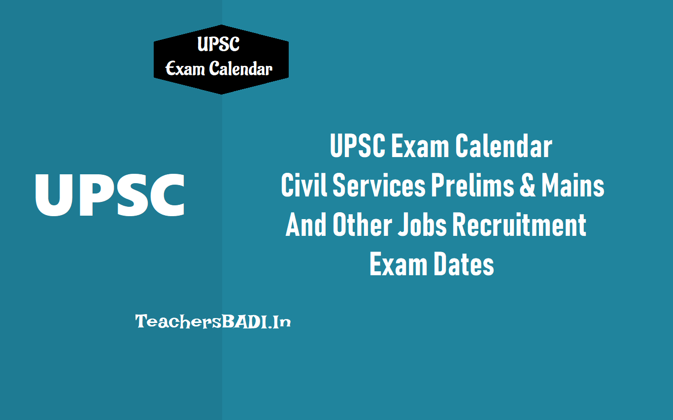 upsc exam calendar 2019 civil services prelims on 2nd june mains in september 2019