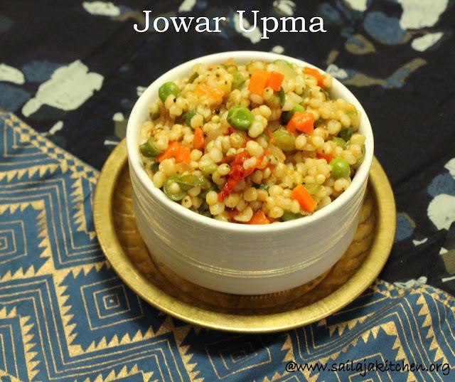 images of Vegetable Jowar Upma Recipe / Jowar Upma Recipe / Jonna Upma / Cholam Upma / Sorghum Upma - Millet Recipes