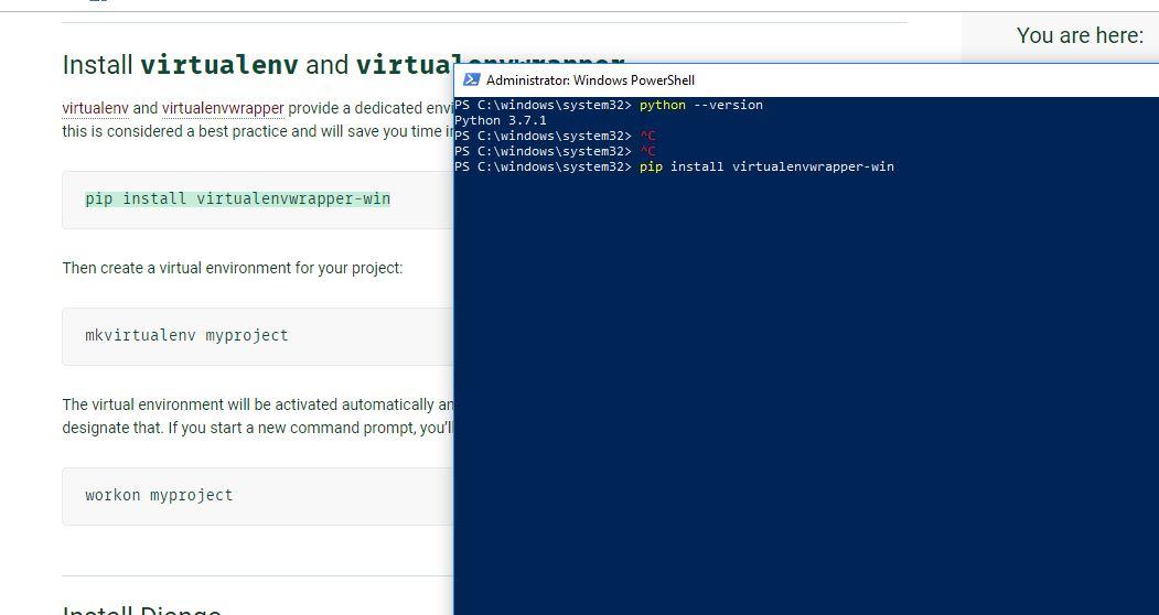 Install virtualenv windows powershell | Steps To Set Up Virtual