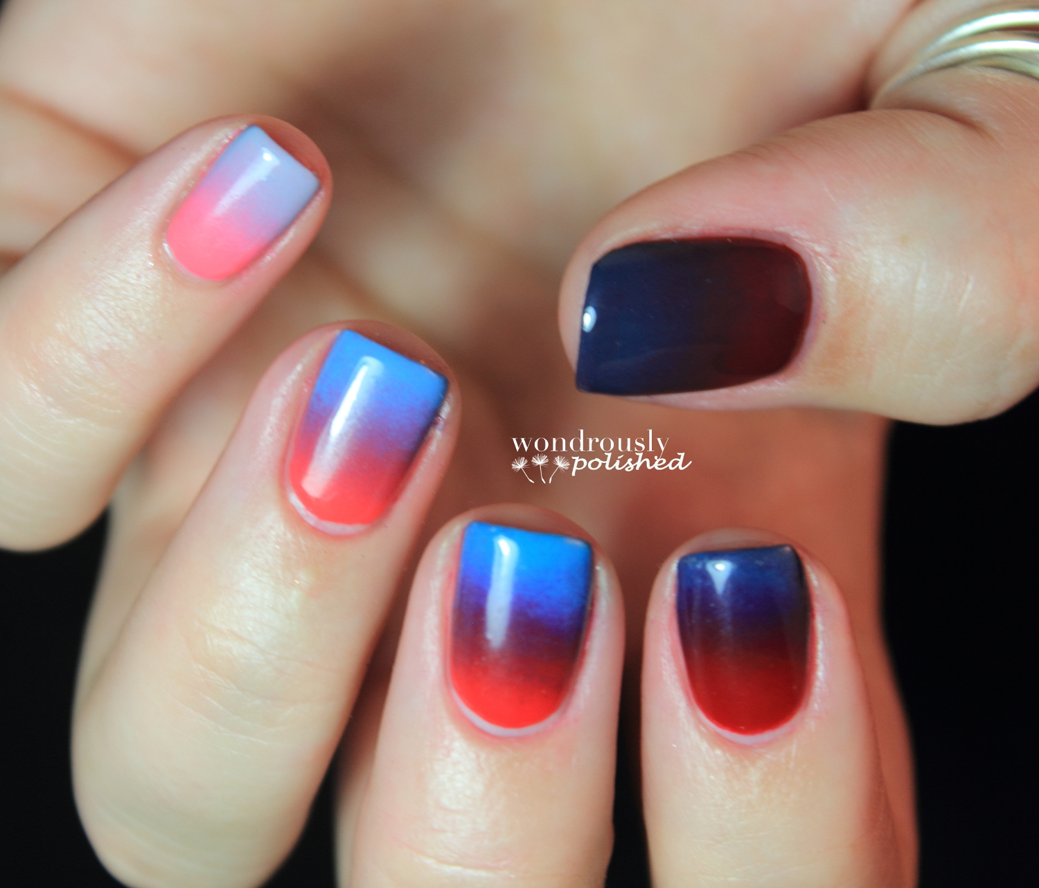 Gradient Nail Art: Wondrously Polished: 31 Day Nail Art Challenge