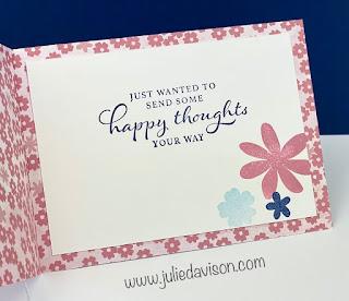 Stampin' Up! Sale-a-Bration Spotlight Day 1:  Paper Blooms Designer Paper Cards ~ www.juliedavison.com #stampinup #saleabration #sab2021