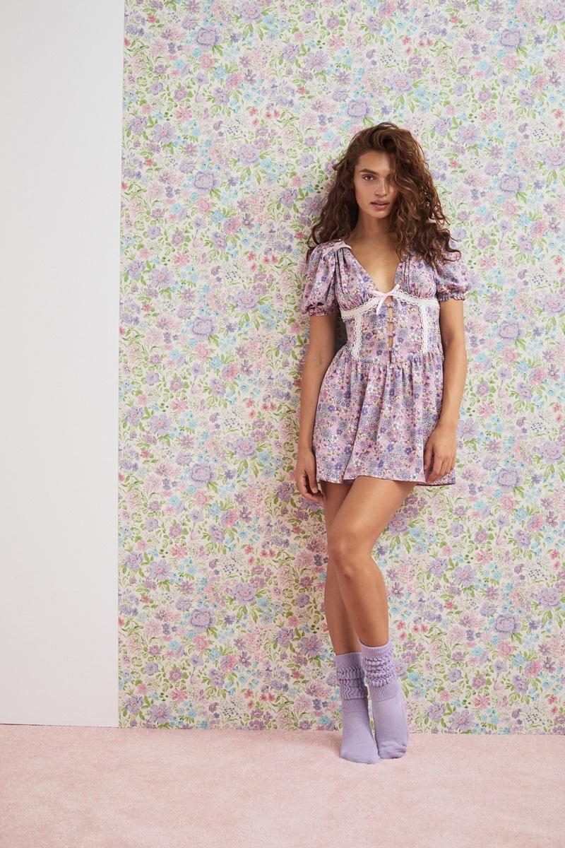 For Love & Lemons for Victoria's Secret Woodstock Floral Dress.