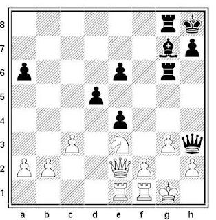 Posición de la partida de ajedrez Balinas - Korchnoi (Filipinas, 1968)