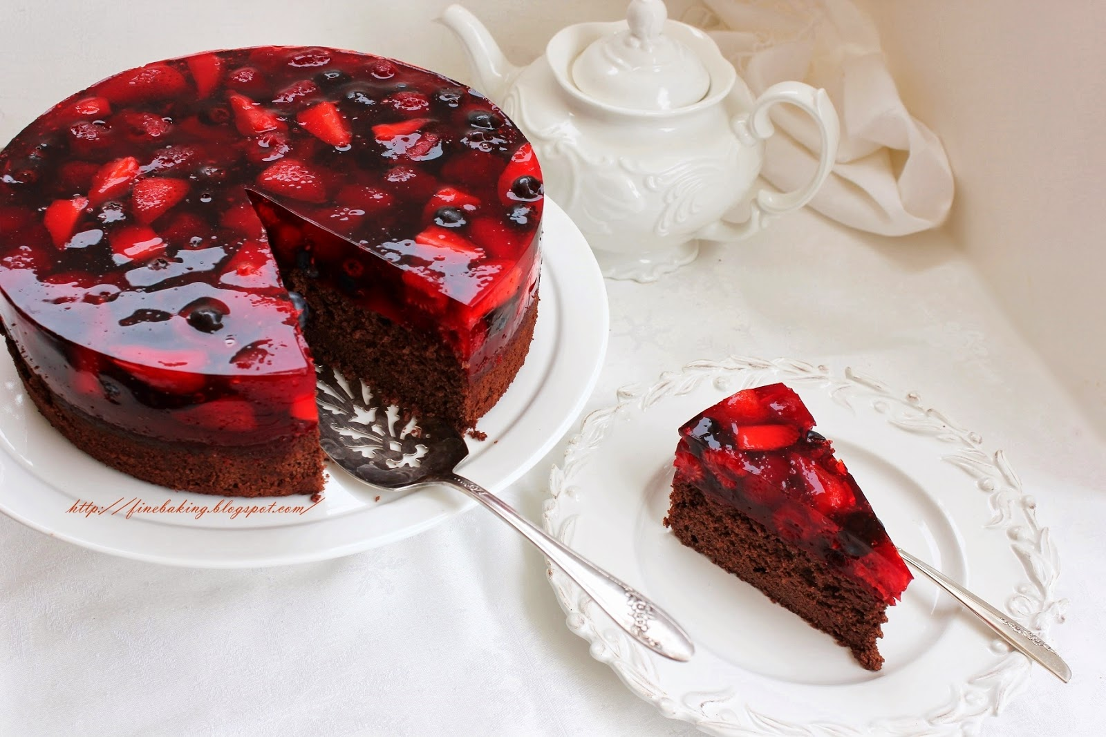 Forest Fruit Chocolate Cake