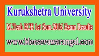 Kurukshetra University M.Tech ECE 1st Sem 2016 Exam Results