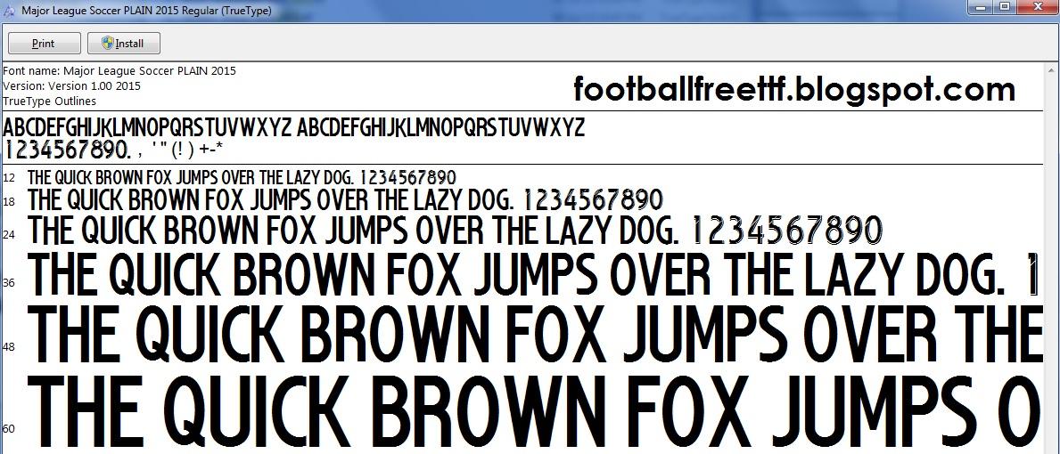 Mls font free download