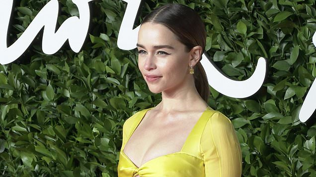 Game of Thrones Actress Emilia Clarke Sexy Photo Stills in Yellow Dress Actress Trend
