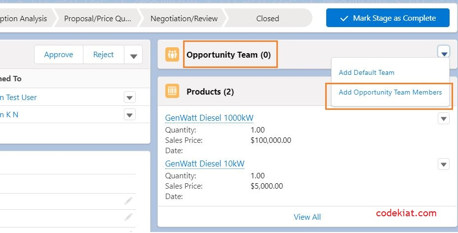 sales cloud opportunity page layout