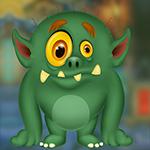 G4K Nasty Green Monster Escape