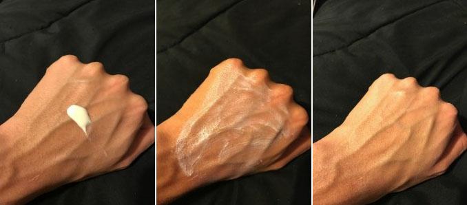 EltaMD UV Clear SPF 46 (bản untinted) thấm nhanh và gần như trong suốt sau khi khô