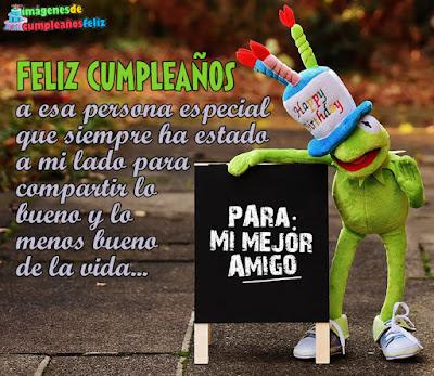 Imágenes de feliz cumpleaños con frases para un amigo