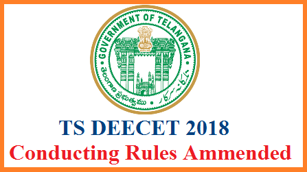 GO MS No 9 Telangana DEECET Conducting Rules Ammended