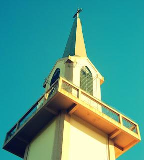 Igreja Matriz São José Operário, Nova Petrópolis: Detalhe da Torre da Igreja Católica
