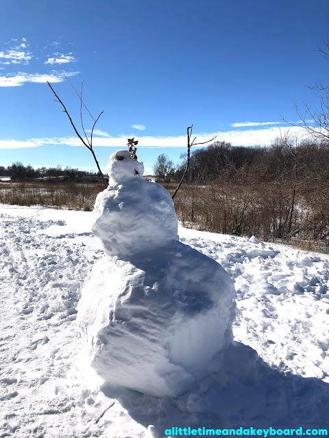 A snowman greets us at Burnidge!