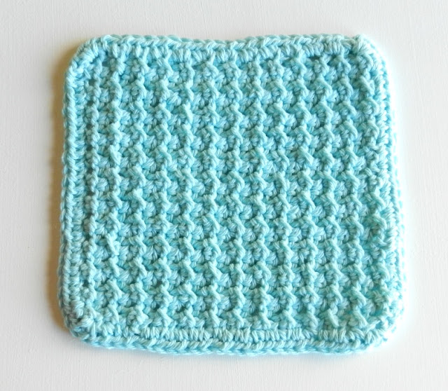 Blue Crochet Dishcloth