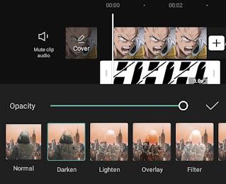 choose capcut overlay type