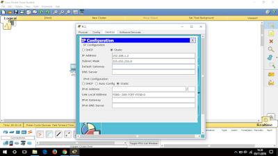 Setting IP PC1