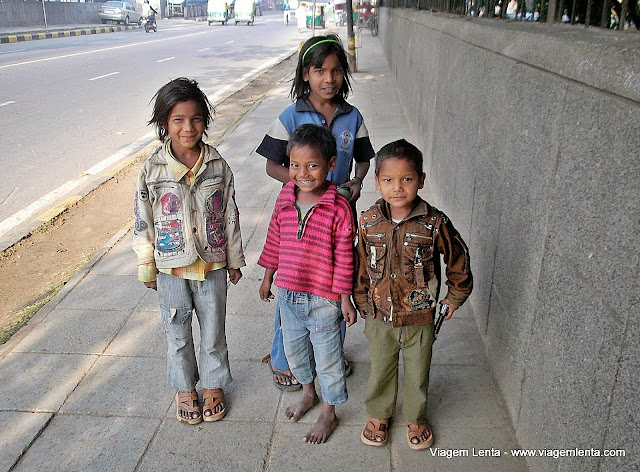 Crianças: sempre presentes em Agra ou Nova Delhi