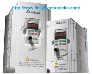 Biến tần Delta nguồn 1P 220Vac VFD007M21A chuyên dụng cho băng tải, máy khuấy trộn.