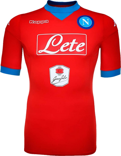 The jersey is red for the first time since five years. It draws inspiration  from the red shirts worn in Napoli s successful Maradona era. fd171f359