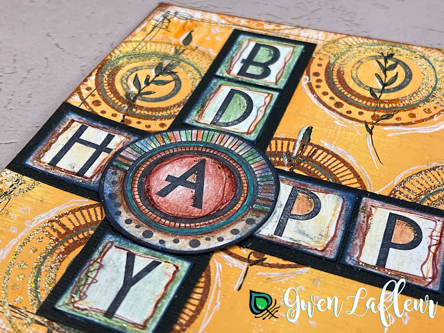 Gwen Lafleur PaperArtsy May 2021 Stamp Release - EGL16 Alphabet Birthday Card